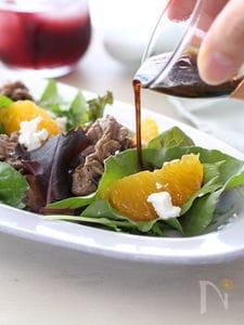 牛肉とオレンジのサラダ