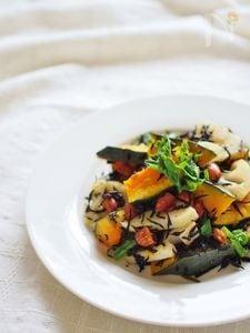 カボチャとヒジキのデリ風サラダ