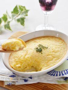 ジャガイモおろし入り、卵のフワフワスフレ