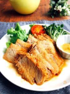 朝漬けて夜に焼く♪豚ロース肉のにんにく醤油ソテー