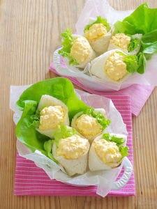 卵サラダのミニミニブーケ