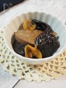 【煮るだけ5分】レバーとプルーンの甘煮