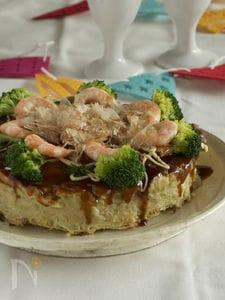 レンコンとおからのお好み焼きケーキ