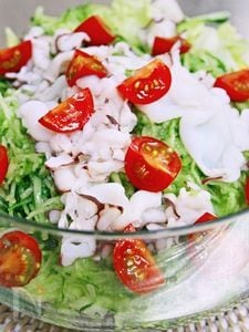 ミズダコと水菜のサラダ~☆