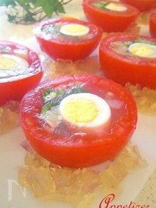 トマトと野菜の寒天ファルジー