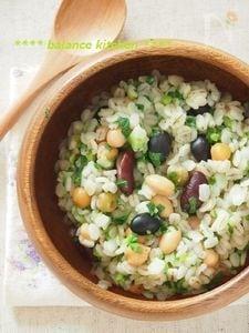 簡単!七草と豆の押し麦リゾット