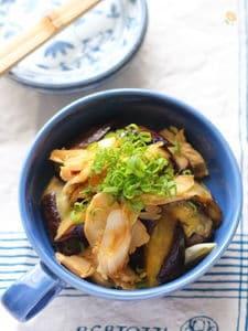 茄子の辛子醤油炒め