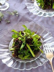 栄養満点!クレソンとひじきの洋風サラダ