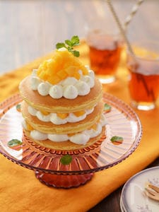 柿のデコレーションパンケーキ