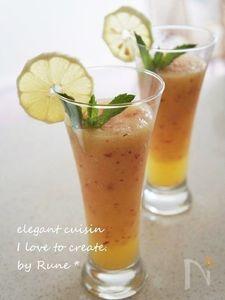アップルとレモンミントのジュース