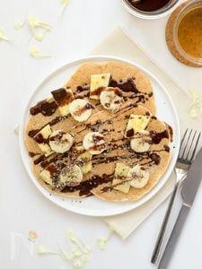 パイナップルとバナナの米粉パンケーキ