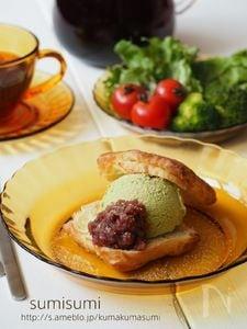 抹茶アイスとあんこきなこサンド