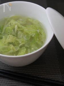 キャベツとホタテの中華風スープ