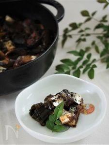 ストウブオーブン煮で秋刀魚の筒煮