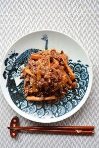 牛肉とメンマ。甘辛コク旨い10分お肉の常備菜