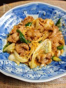 豚肉とキャベツのピリ辛にんにく味噌炒め
