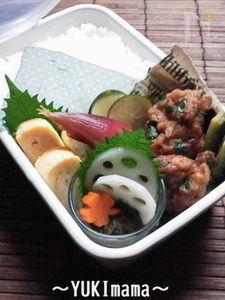 ゴーヤと鶏からの南蛮漬け(作りおき)のお弁当~バジル風味~