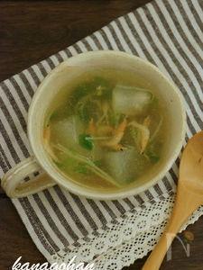 【48kcal】桜えびと冬瓜のスープ