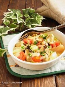 牡蠣と冬野菜のチーズ焼き