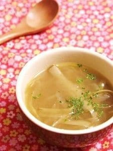 たっぷりごぼうの洋風スープ