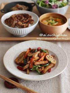 彩り野菜の甘酢きんぴら♡