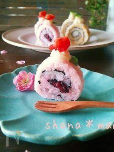 お菓子なお寿司♪ミニミニロールケーキ寿司♪
