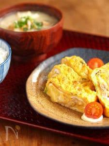 ツナとチーズのたまご焼き