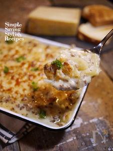 簡単!ジャガイモとひき肉のクリームグラタン