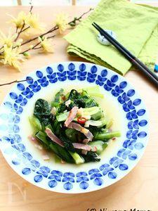 シャキシャキ青菜の塩炒め