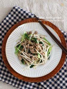 給料日前の節約レシピ♡ボリューム満点もやしの肉味噌炒め♡