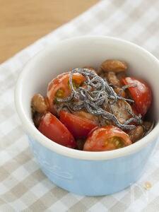 トマトと納豆の昆布和え