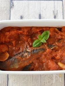 さんまのイタリアン風トマト煮込み【作りおき】