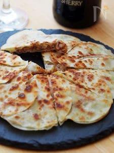 クルミ味噌チーズのクリスピー餃子