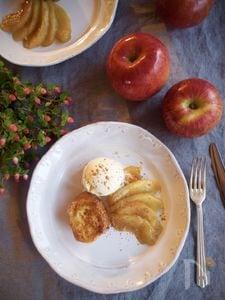 """フレンチトーストに添えて""""リンゴのキャラメリゼ"""""""