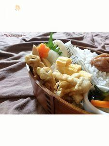 お弁当に〜しめじとマヨめんつゆ剥き身のかき揚げ〜