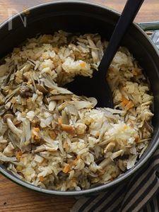 干しエビと野菜の炊き込みご飯