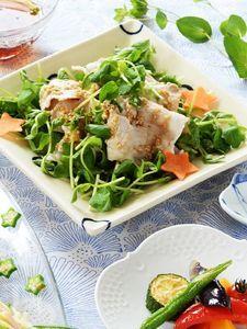 豚しゃぶと豆苗のサラダ