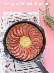 ローズマリーポテト&サラミのスキレットオーブン焼き