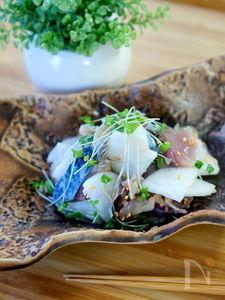簡単〆鯖と大根の和物