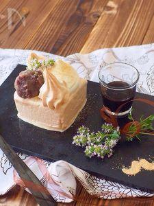 牛乳パックで作る☆プチガトー風黒糖アイスケーキ