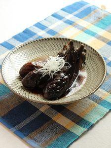 【無水調理】茄子の蒸し煮 葛餡仕立て