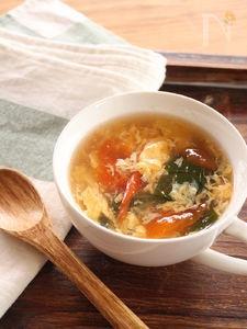 トマトと青梗菜の中華風卵スープ