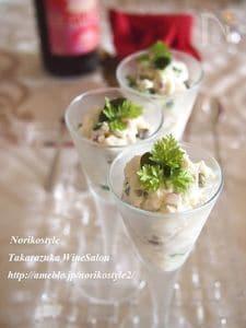 ホタテとクリームチーズのカクテル