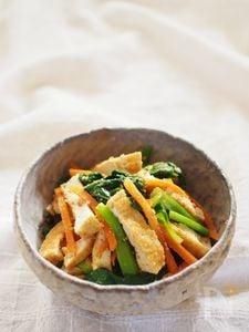 小松菜と厚揚げの胡麻和え