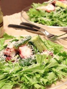 サラダ仕立てのタコときゅうりのエスニックマリネ