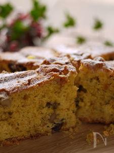 ラム香る♡簡単かぼちゃとレーズンのバターケーキ