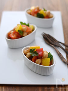 ひよこ豆とパプリカのデリサラダ