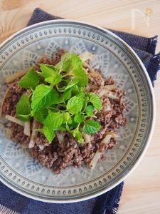 牛挽き肉のモロッコ風炒め