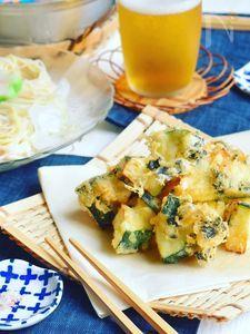 ズッキーニの海苔チーズフリッター