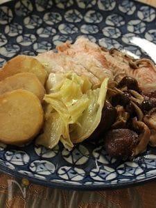 秋鮭とさつまいもとキャベツのバター醤油蒸し